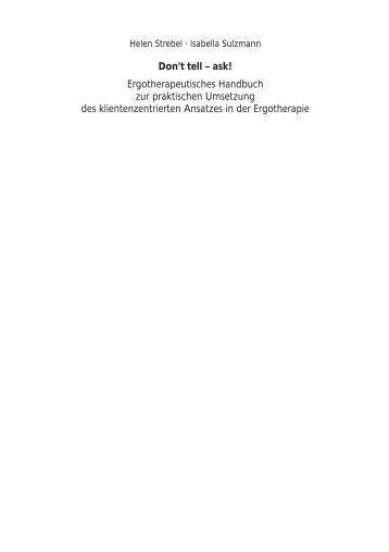 Don't tell_innen.pmd - Schulz-Kirchner Verlag