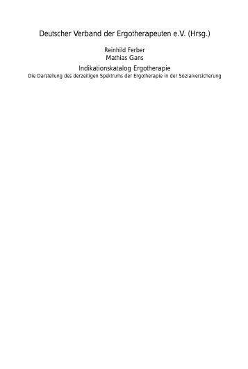 Deutscher Verband der Ergotherapeuten e.V. (Hrsg.)