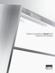 Sistema di scaffalature SchulzRATIO Programma ... - Schulz Speyer