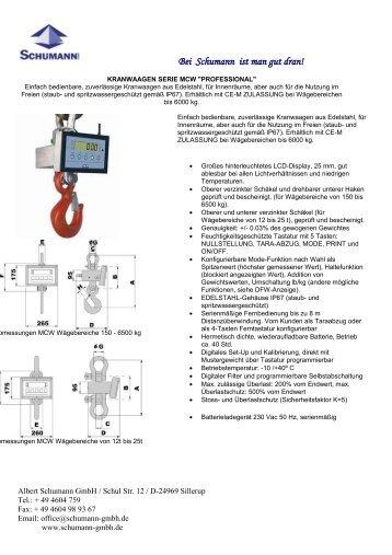 PDF Prospekt - Schumann GmbH
