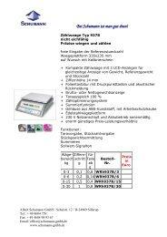 Prospekt zu dieser Serie - Schumann GmbH