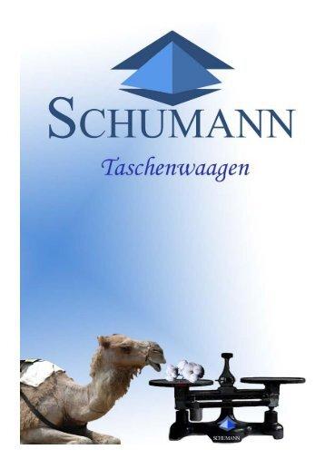 Prospekt Taschenwaagen - Schumann GmbH