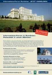 Informations-Forum in Rum&aumlnien; 3. - 5. Mai ... - Schunck Group