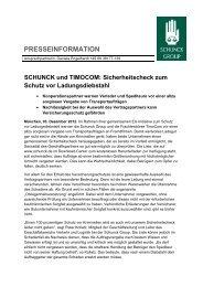 Sicherheitscheck zum Schutz vor Ladungsdiebstahl - Schunck Group