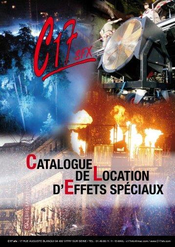 Catalogue de loCation d'effets spéCiaux - C17 sfx