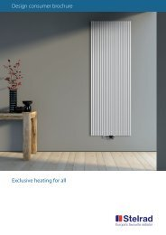 Design consumer brochure Exclusive heating for all