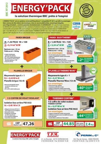 Energypack en bloc de 20 et 25 - PERIN & Cie