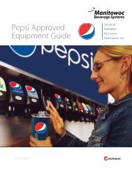 Global Pepsi Brochure - Manitowoc Beverage Systems