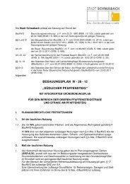 Satzungstext Entwurf - Stadt Schwabach