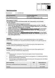 Beschlussvorlage - Stadt Schwabach