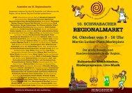 REGIONALMARKT REGIONALMARKT - Stadt Schwabach