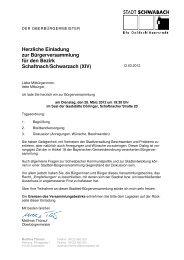 Herzliche Einladung zur Bürgerversammlung für den Bezirk ...