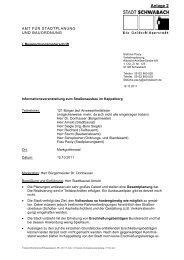 Protokoll Informationsveranstalltung - Stadt Schwabach