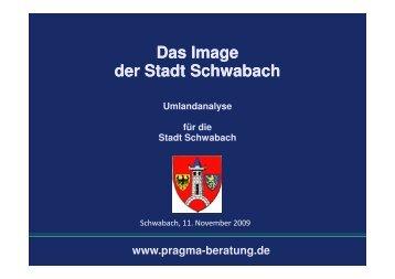 Ergebnisse der Imageanalyse - Stadt Schwabach