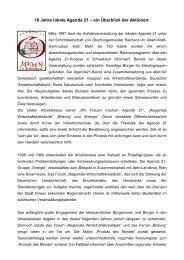 10 Jahre lokale Agenda 21 – ein Überblick der ... - Stadt Schwabach