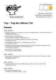 7up – Tag der offenen Tür Programm - Stadt Schwabach