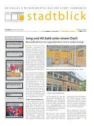 stadtblick Ausgabe Juli - Stadt Schwabach