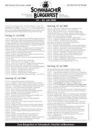 Programmblatt 2006_120706 - Stadt Schwabach