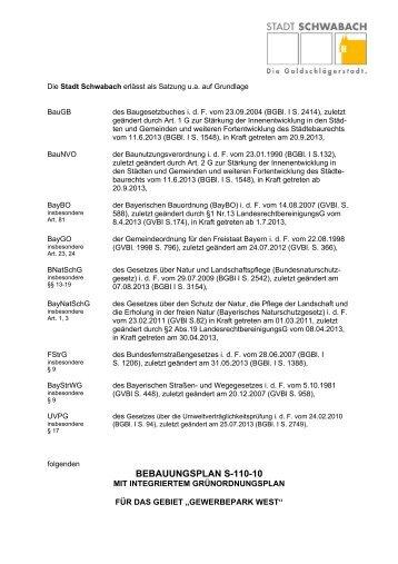 Satzung Entwurf - Stadt Schwabach
