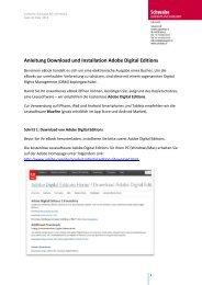 Anleitung Download und Installation Adobe Digital Editions - Schwabe