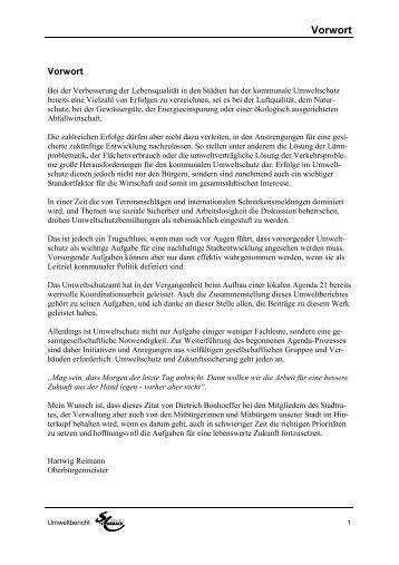 Umweltbericht 2000/2001 - Stadt Schwabach
