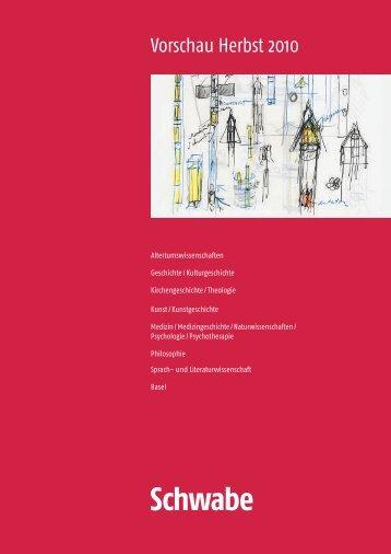 Vorschau Herbst 2010 (pdf) - Schwabe
