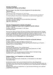 Veranstaltung im Rahmen der BuchBasel - Schwabe