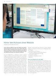 Hinter den Kulissen einer Website - Schwabe