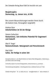 Neujahrsapéro Donnerstag, 19. Januar 2012, 18 Uhr - Schwabe