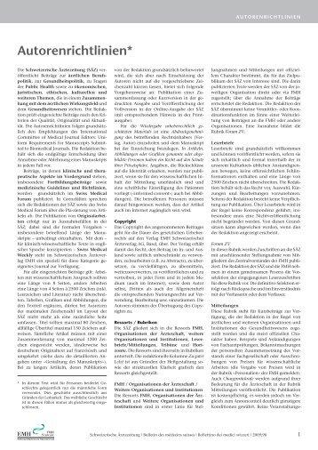 Autorenrichtlinien SÄZ - Schwabe