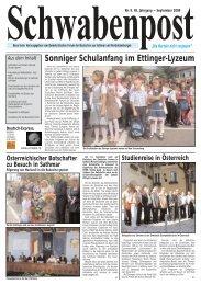 Sonniger Schulanfang im Ettinger-Lyzeum - Demokratisches Forum ...