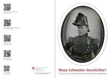 Wozu Schweizer Geschichte? - Schwabe