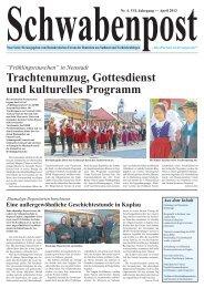 in Neustadt Trachtenumzug, Gottesdienst und kulturelles Programm