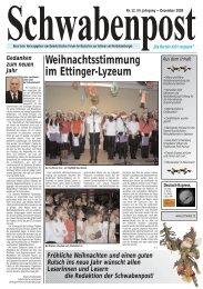 Weihnachtsstimmung im Ettinger-Lyzeum - Demokratisches Forum ...