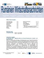 Newsletter der Deutsch-Rumänischen Industrie- und Handelskammer