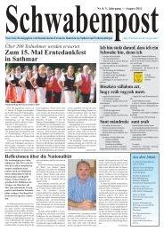 Zum 15. Mal Erntedankfest in Sathmar - Demokratisches Forum der ...