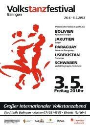 Volkstanzfestival Balingen - Schwaben-Kultur