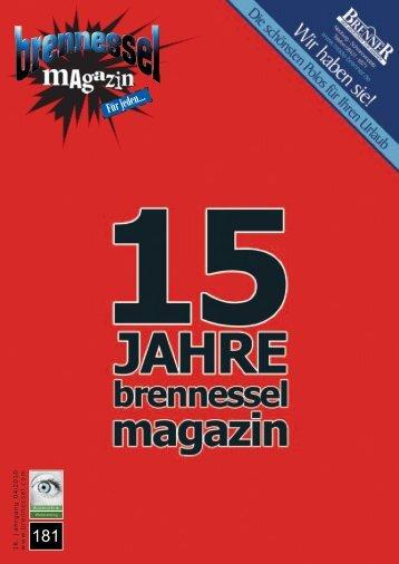 Klassik - Pop - Rock - Jazz - Brennessel Magazin