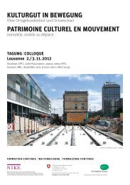 kulturgut in bewegung patrimoine culturel en mouvement