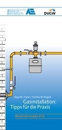 Tipps für die Praxis - DVGW - Deutscher Verein des Gas
