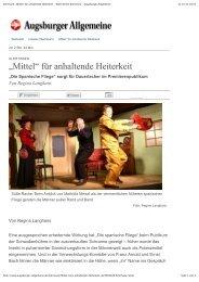 """Illertissen: """"Mittel"""" für anhaltende Heiterkeit - Nachrichten Illertissen ..."""