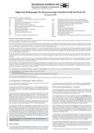 Allgemeine Bedingungen Für Bausparverträge Schwäbisch Hall Tarif