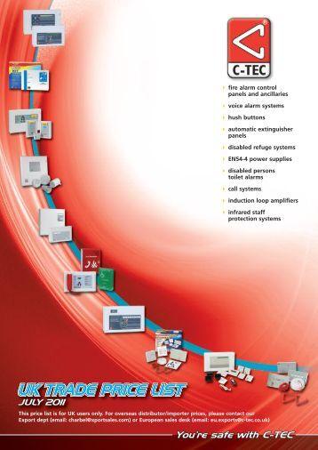 UK TRADE PRICE LIST - C-Tec
