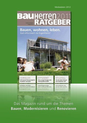 Das Magazin rund um die Themen Bauen, Modernisieren und ...