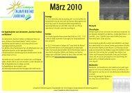 Begleitkalender März 2010 - Schwäbische Albvereinsjugend