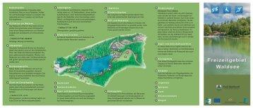 Broschüre Freizeitgebiet Waldsee barrierefrei - Schwäbischer Wald