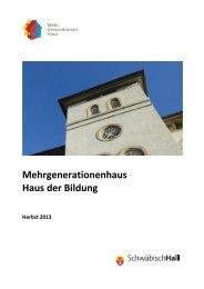 neues Programm - Stadt Schwäbisch Hall