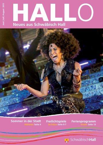 Stadtmagazin HALLO - Stadt Schwäbisch Hall