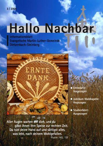 Interkulturellen Wochen 2008 - Evangelische Martin-Luther-Gemeinde