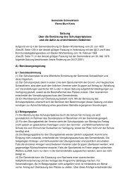 Benutzung Schulsportplatz - Gemeinde Schwaikheim